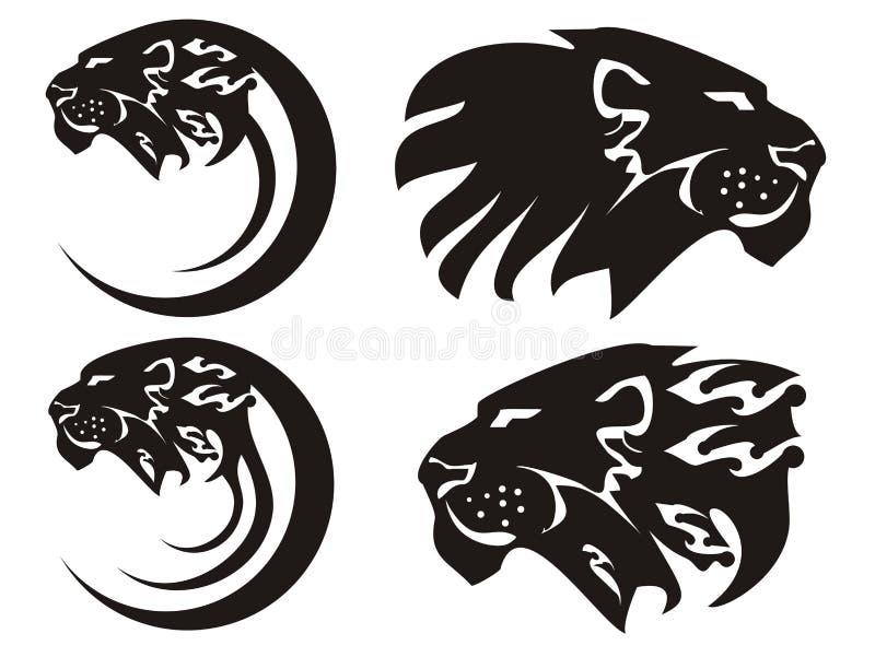 Símbolos tribais do leão, vetor ilustração royalty free