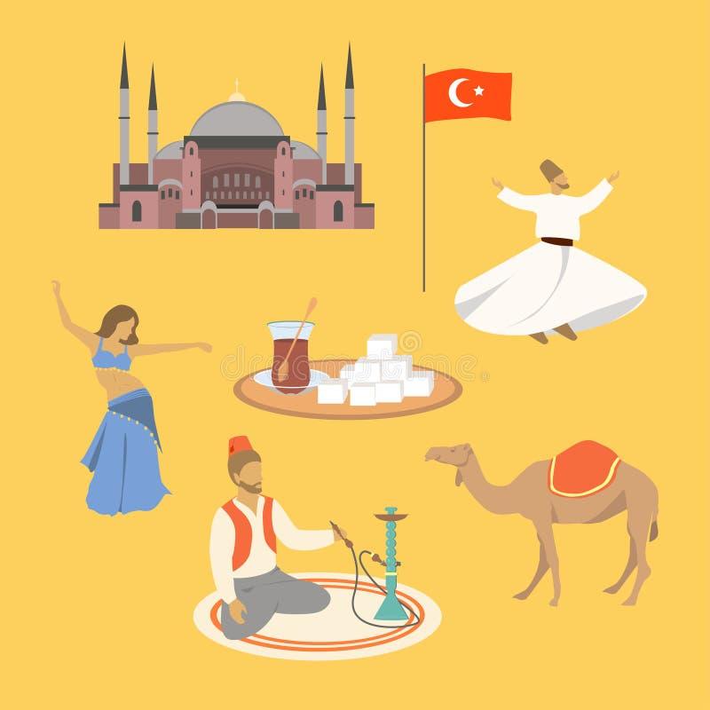 Símbolos turcos ilustración del vector