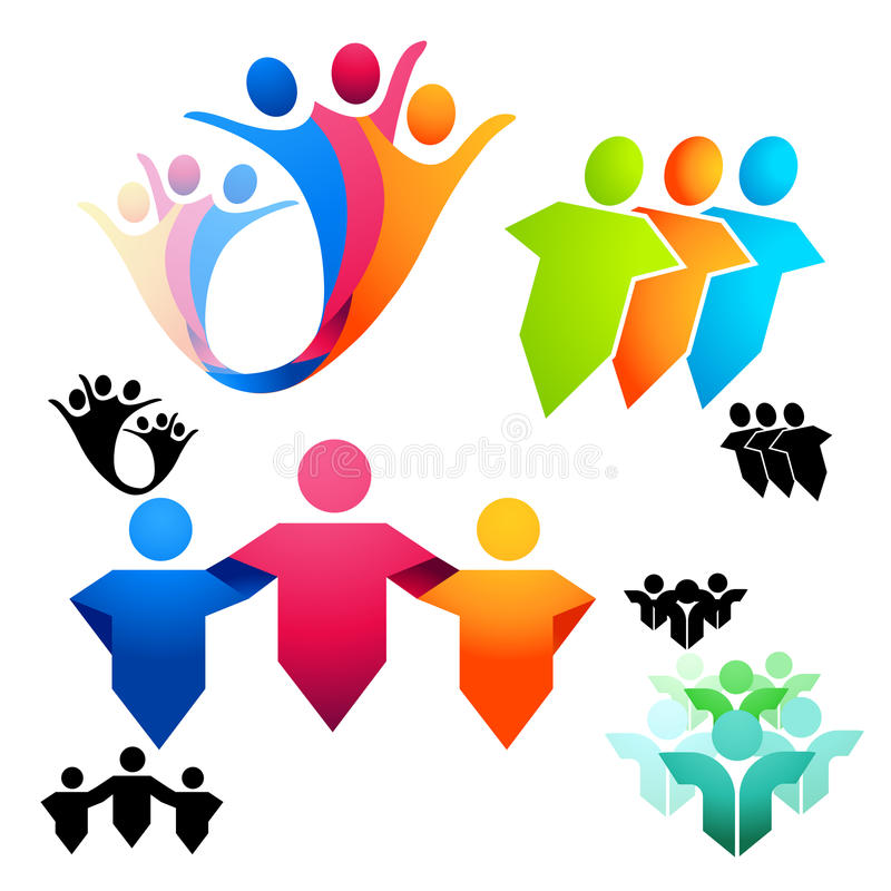 Símbolos unidos de la gente stock de ilustración