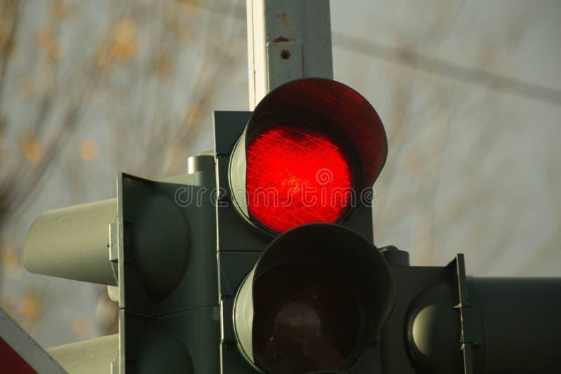 Símbolos verdes vermelhos dos sinais imagens de stock royalty free