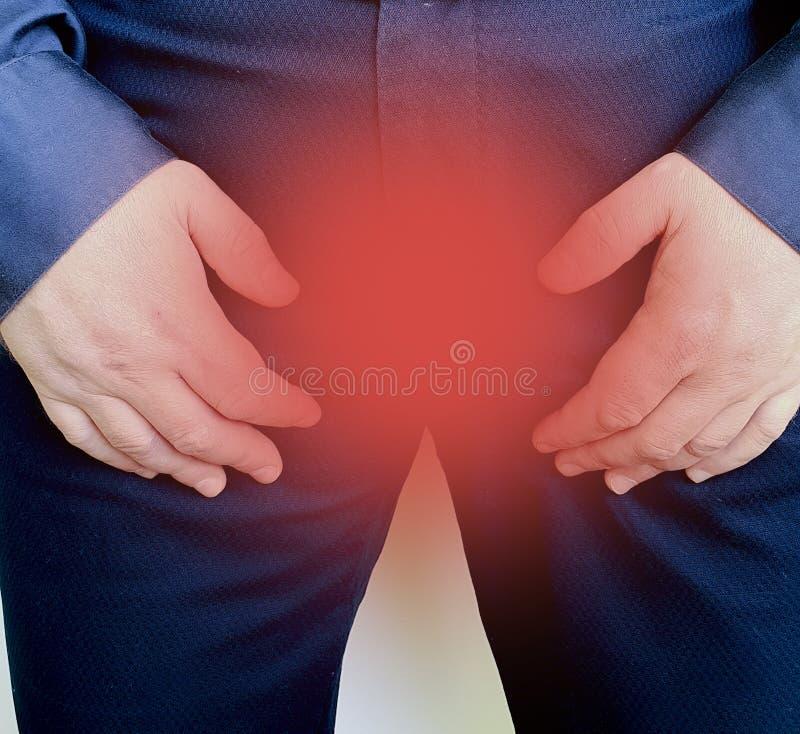 Síndrome amonestador enfermo del síntoma de la prostatitis masculina de la desolación imágenes de archivo libres de regalías