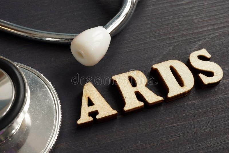Síndrome de aflição respiratória aguda ARDS do diagnóstico fotografia de stock royalty free