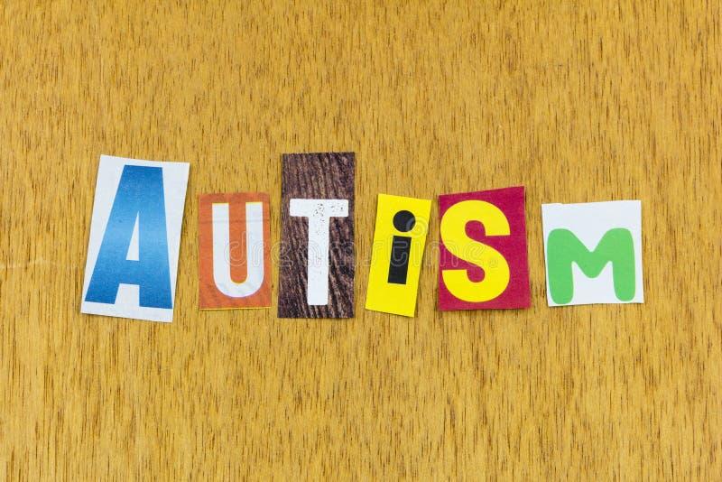 Síndrome de trastorno autista enfermedad autista conciencia de salud mental foto de archivo