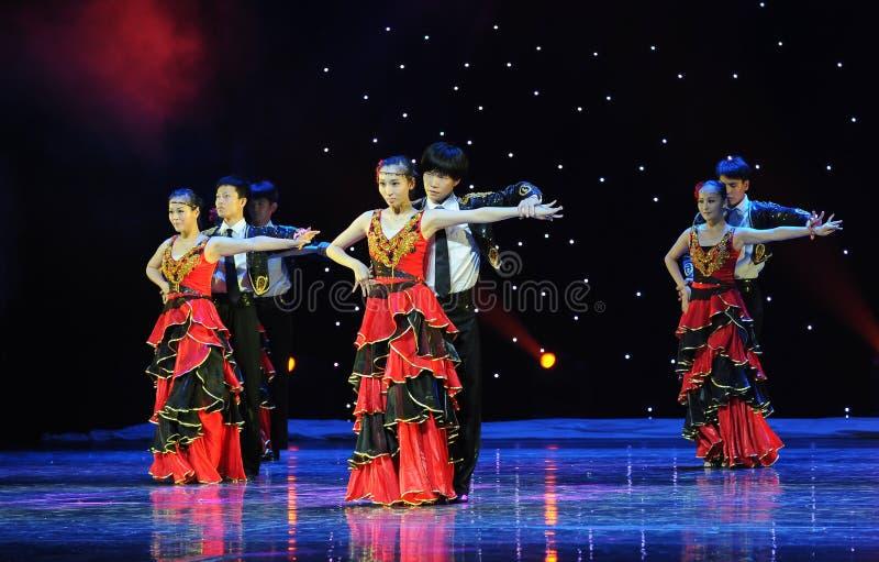 Sócio de dança ---A dança nacional espanhola fotos de stock royalty free