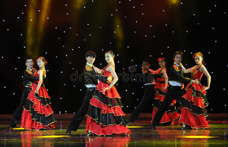 Sócio de dança ---A dança nacional espanhola foto de stock royalty free