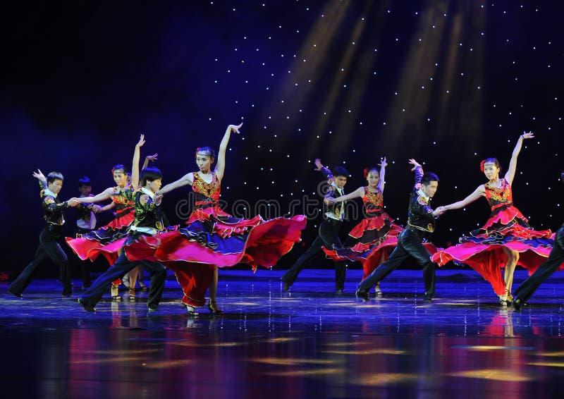 Sócio de dança ---A dança nacional espanhola imagem de stock