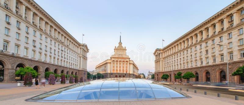 Sófia no por do sol - Bulgária imagem de stock