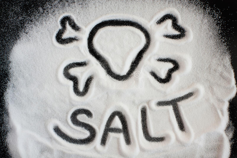 Sól i czaszka zdjęcia stock