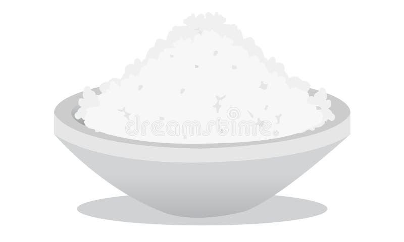 Sól i ryż royalty ilustracja