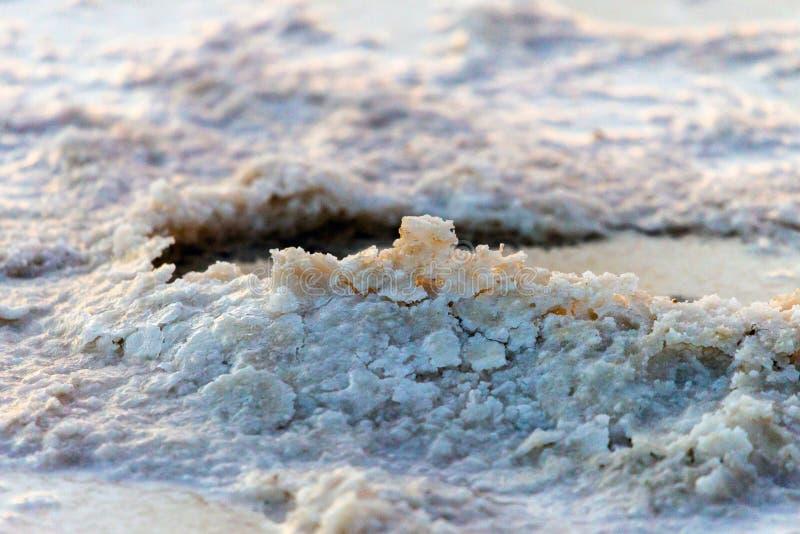 Sól w wodzie w jeziorze Produkcja sól w Baskunchak regionie zdjęcie royalty free