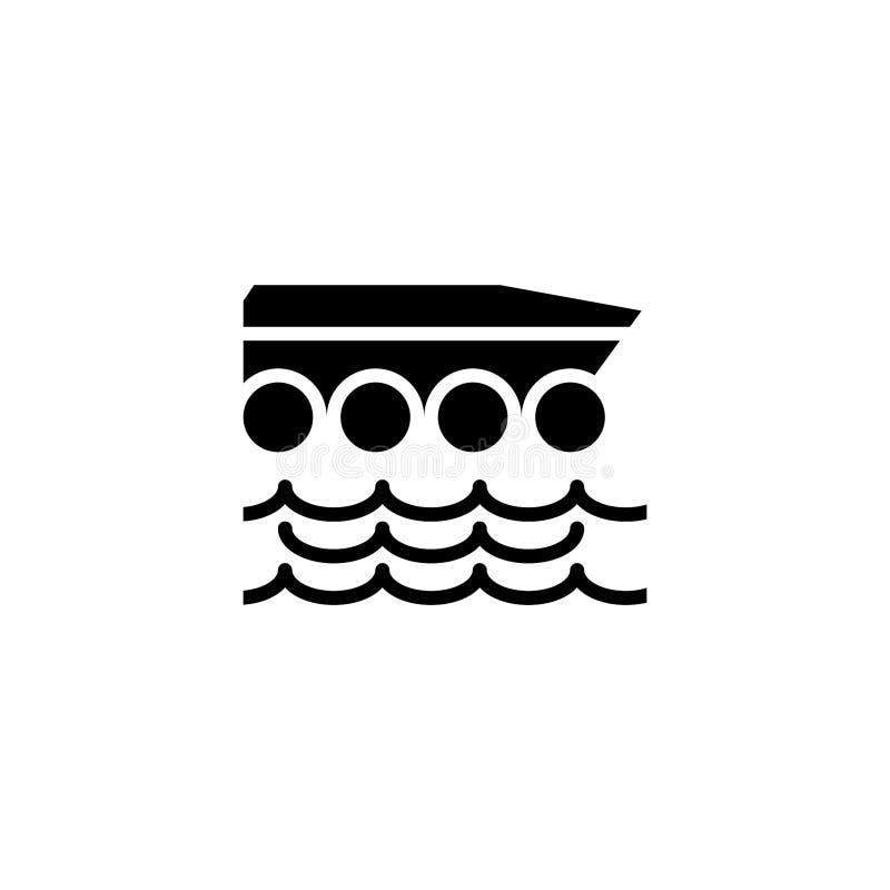 Sólido anfíbio do ícone do carro estoque do ícone do veículo e do transporte ilustração do vetor