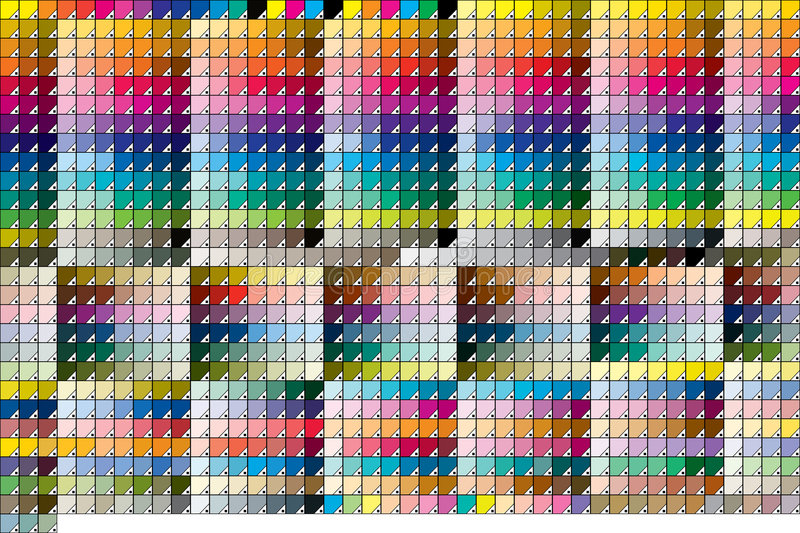 Sólido de Pantone cubierto ilustración del vector