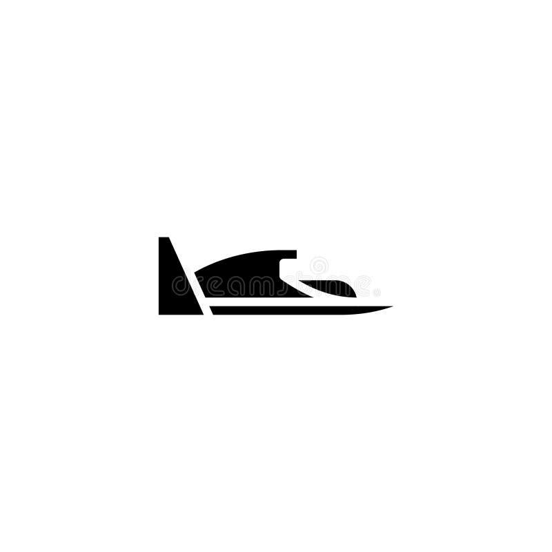 Sólido del icono del hidroavión acción del icono del vehículo y del transporte stock de ilustración