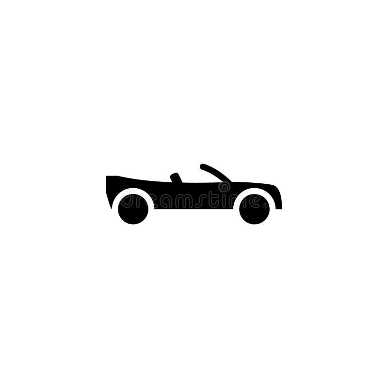 Sólido do ícone do carro dos Convertibles estoque do ícone do veículo e do transporte ilustração royalty free