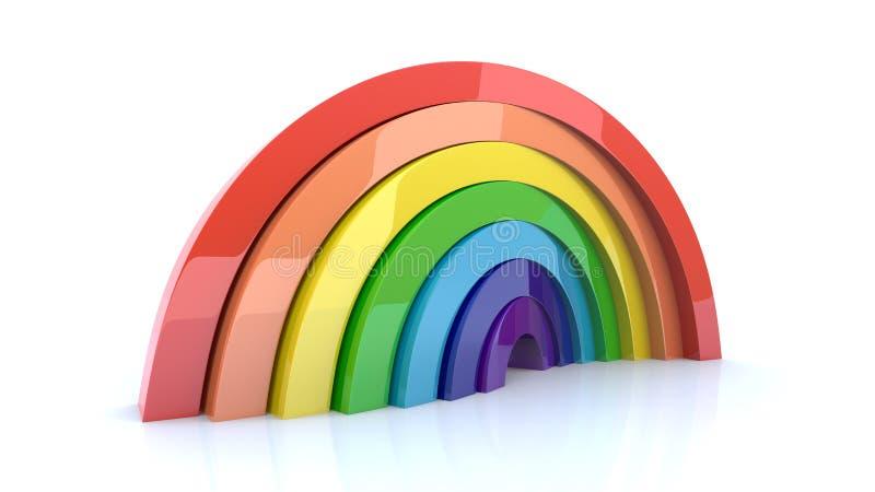 Sólido do arco-íris ilustração do vetor