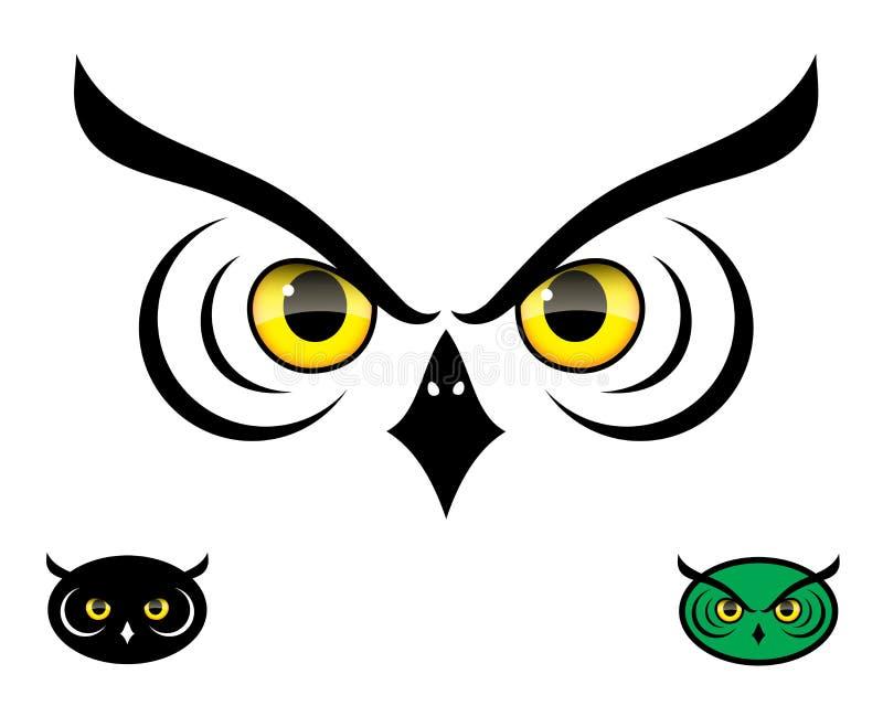 Sów oczy ilustracji