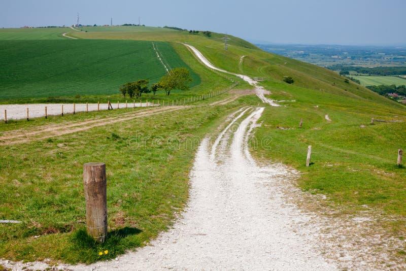 Söder besegrar den nationella slingan för vägen i Sussex sydliga England UK arkivfoton