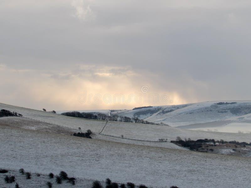 Söder besegrar nationalparken i vinter royaltyfri fotografi