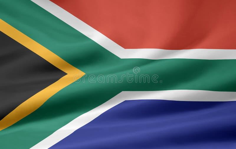 södra africa flagga vektor illustrationer