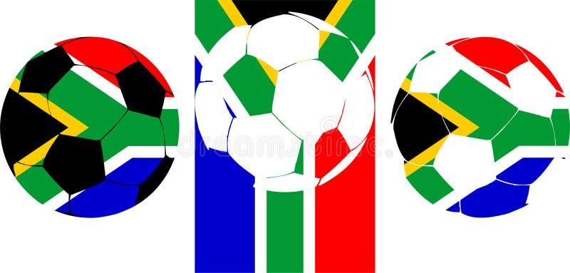 södra africa fotboll 2010 vektor illustrationer