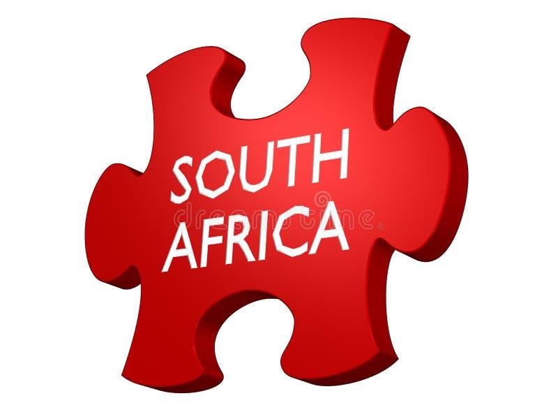 södra africa pussel royaltyfri illustrationer