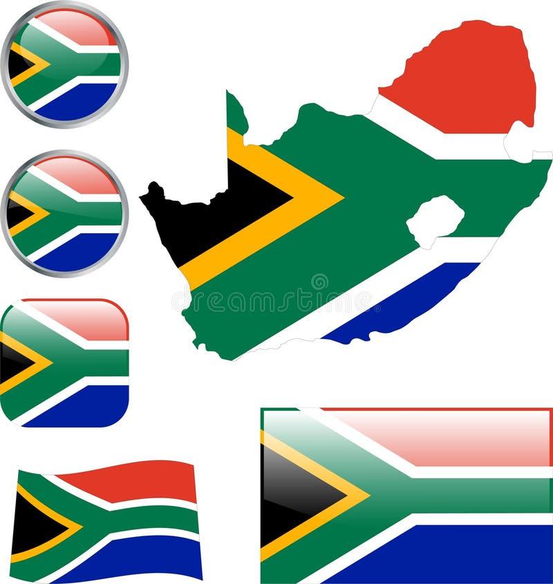 södra africa republik royaltyfri illustrationer