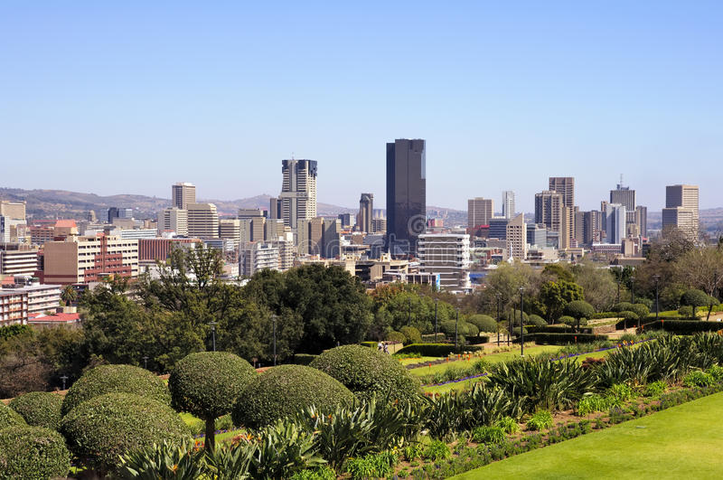 södra africa stadspretoria horisont royaltyfria bilder