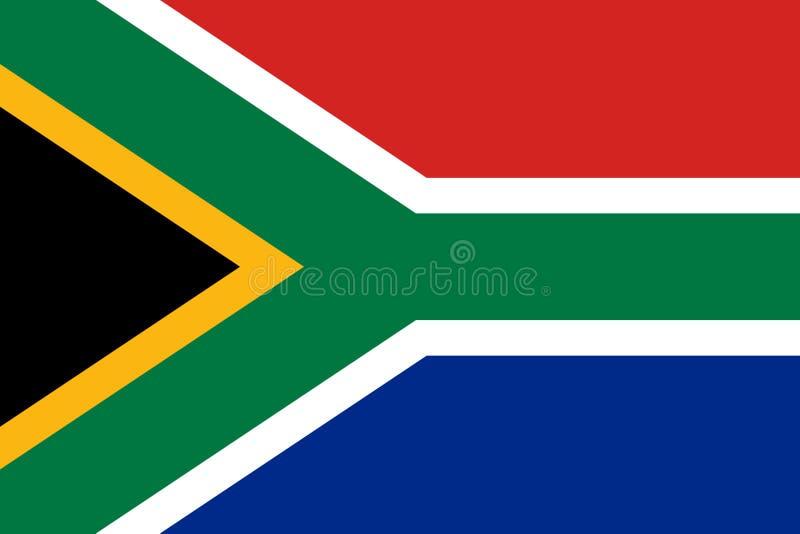 Södra - afrikansk flagga, plan orientering, illustration stock illustrationer