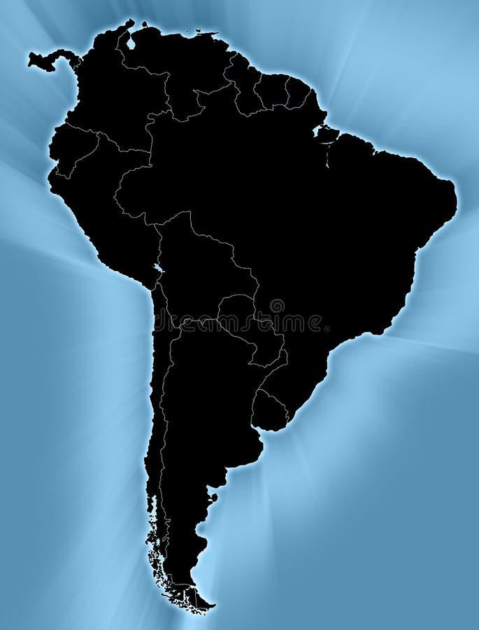 södra Amerika översikt royaltyfri illustrationer