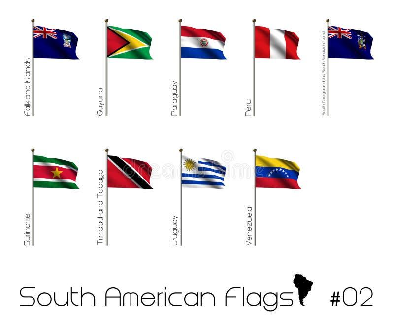 Södra - amerikanska flaggan royaltyfri illustrationer