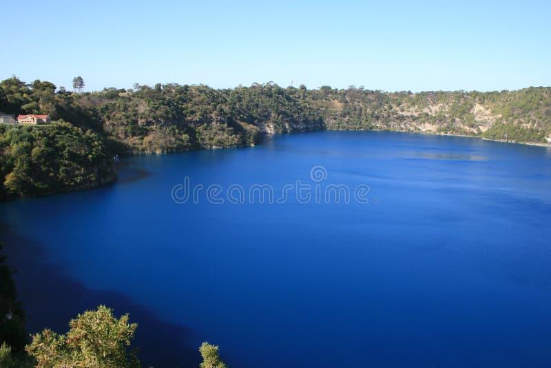 Södra Australien Blå Mer Gambier Lake Mt Arkivbild
