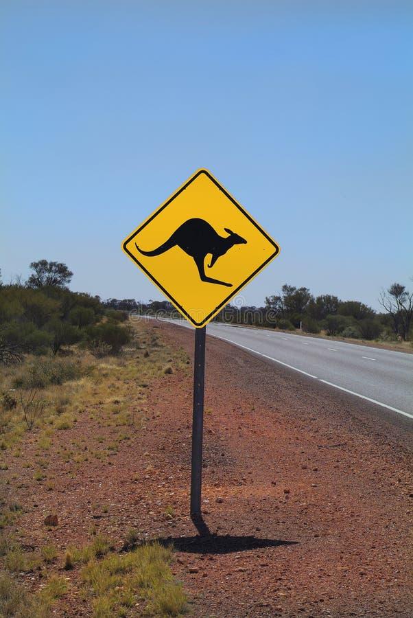 Södra Australien, varningstecken arkivfoto