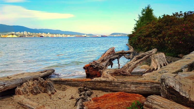 Södra belägen mitt emot norr Vancouver arkivbild