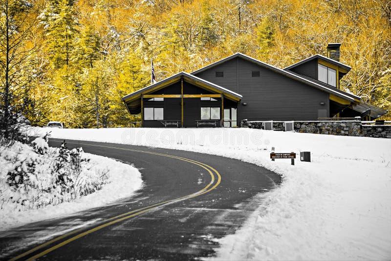 Södra bergdelstatsparkingång North Carolina fotografering för bildbyråer