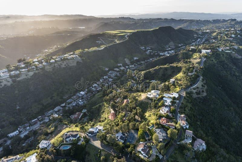 Södra Beverly Park Neighborhood i Los Angeles Kalifornien royaltyfri bild