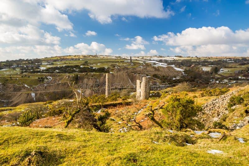 Södra Caradon min Cornwall arkivfoton
