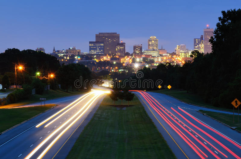 södra carolina columbia horisont arkivfoto