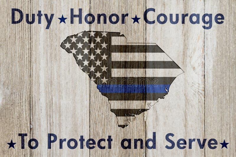 Södra Carolina Duty Honor och kuragemeddelande royaltyfri bild