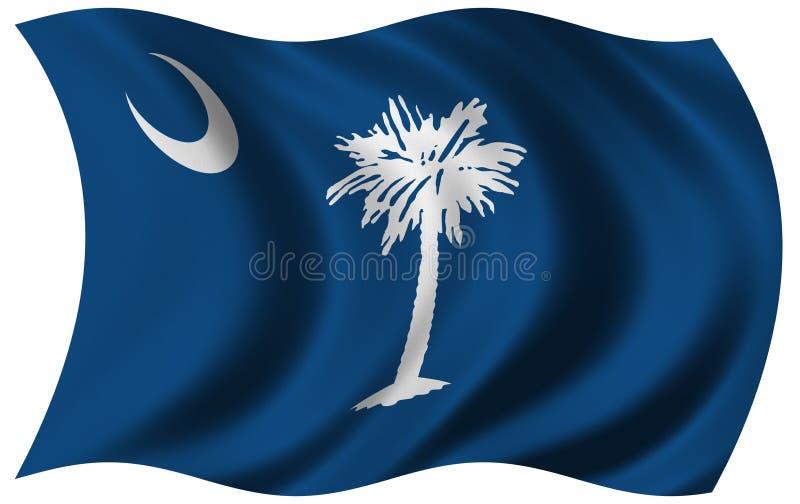 södra carolina flagga vektor illustrationer