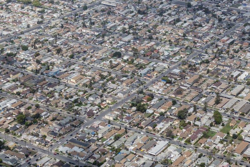 Södra central Los Angeles antenn arkivfoto
