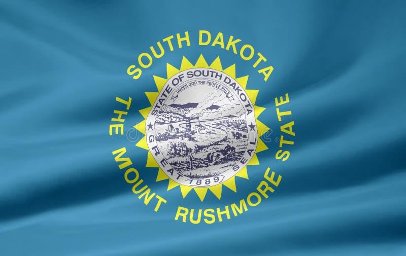 södra dakota flagga stock illustrationer