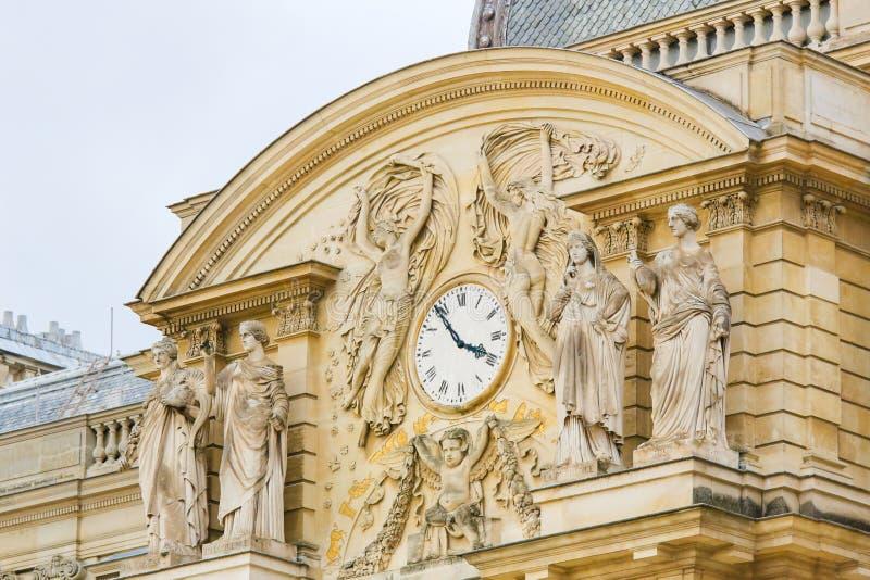 Södra fasad av den Luxembourg slotten i Paris, Frankrike arkivfoton