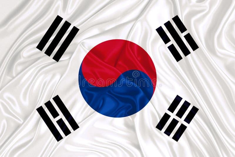 södra flaggakorean arkivbild