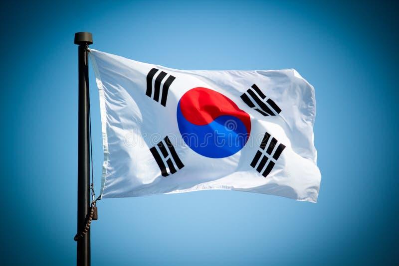 södra flaggakorean royaltyfria foton