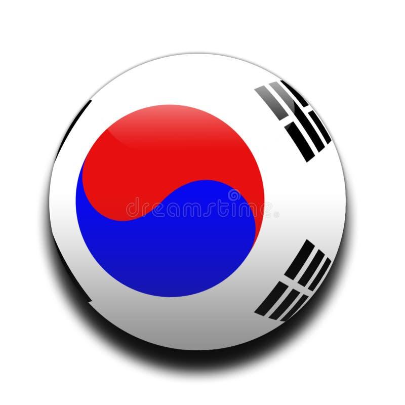 södra flaggakorean royaltyfri illustrationer