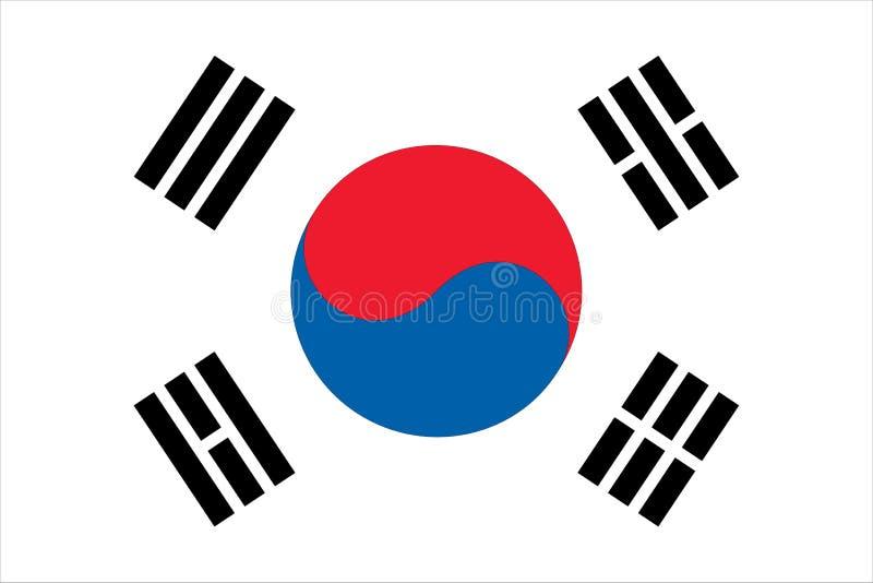 södra flaggakorean stock illustrationer