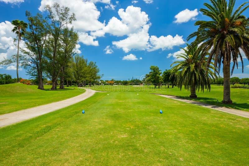 Södra Florida golfbana arkivfoto