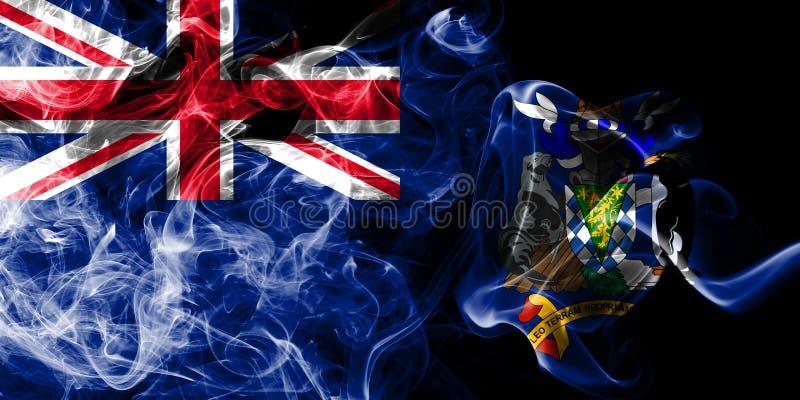 Södra Georgia och öarna för södra smörgås röker flaggan, beroende territoriet flagga för brittiska utländska territorier, det Bri vektor illustrationer