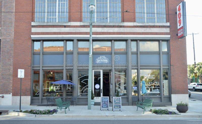 Södra huvudsaklig marknad, i stadens centrum Memphis, Tennessee royaltyfri fotografi