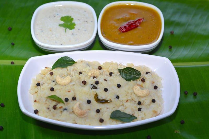 Södra indisk frukost arkivfoto